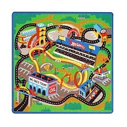 Awesome Hot Wheels Game Rug W/ Car 40in Square Rug By Hasbro Review