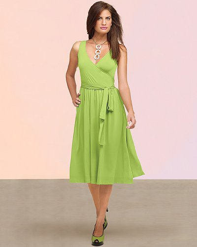 Wrapped pleated tank dress