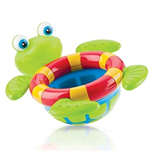 nuby bath tub toy floating turtle bathtub. Black Bedroom Furniture Sets. Home Design Ideas