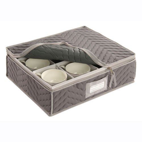 china-cup-storage-chest-deluxe-quilted-microfiber-light-gray-13h-x-155w-x-5d