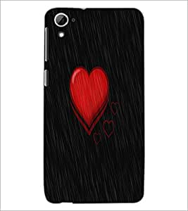 Printdhaba Heart D-1145 Back Case Cover For Htc Desire 826