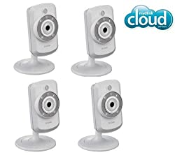 D-LINK Pack of Four DCS-942L Day / Night mydlink Wireless-N IP Cameras + 3 YEARS WARRANTY