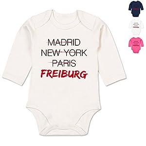 BZ30 Bio Baby Jungen Mädchen Strampler langarm ohne Bein - Städte & Länder Baby - Weltstadt Freiburg