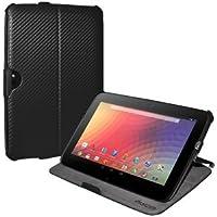 Amzer 95140 Shell Portfolio Case Black Carbon Fiber Texture for Samsung Nexus 10, Google Nexus 10