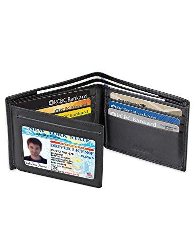 kinzd-mens-extra-capacity-leather-rfid-blocking-wallet-bifold-trifold-hybrid-black-black