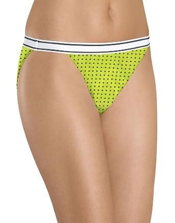 Hanes Women's Cotton String Bikinis 6 Pack, 5-Assorted