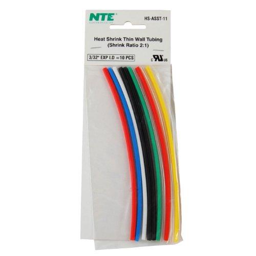 Nte 3/32 Heat Shrink 6 Color Assortment 10 Pcs.