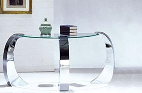 Sofa Table Modern Style Chrome Finish