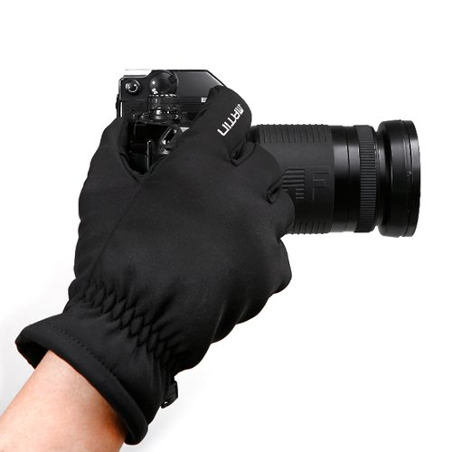 Waterproof Polyester Non-Slip Gloves for Outdoor Winter Activities (Large)