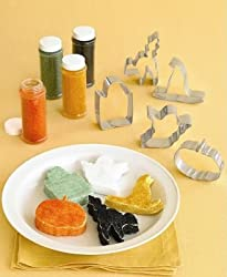 MARTHA STEWART Spooky Marshmallow Kit/Cookie Cutters, 5 Shapes, 4 Sanding Sugars