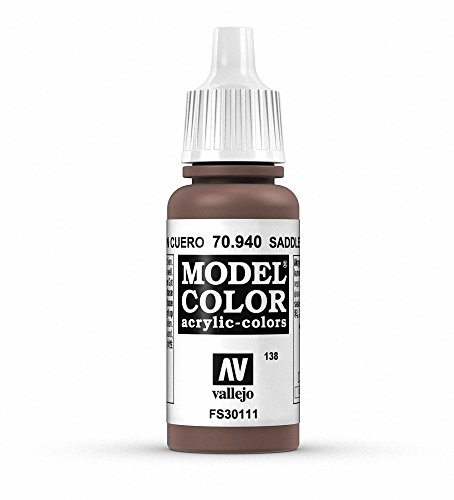 Vallejo Saddle Brown Paint, 17ml