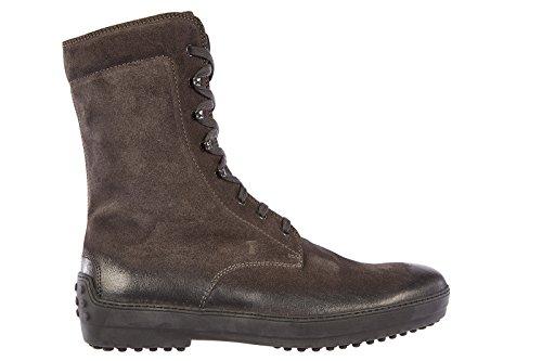 Tod's stivaletti stivali uomo pelle winter gommini grigio EU 42.5 XXM0HW00500RE0B609
