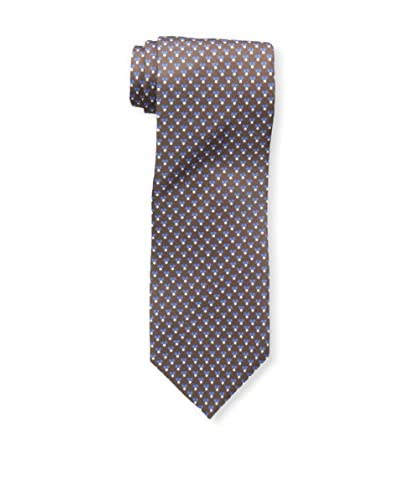 J.McLaughlin Men's Triangluar Dot Silk Tie, Brown/Blue