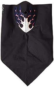 ZANheadgear Neodanna Flames 100 Percentage Cotton Bandanna with Neoprene Face Mask (Blue/Orange)