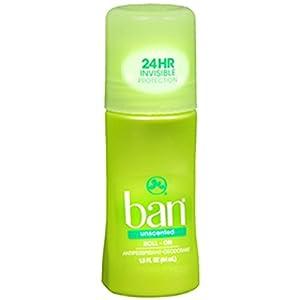 Ban Original Roll-On Antiperspirant & Deodorant, Unscented 1.5 oz (44 ml)