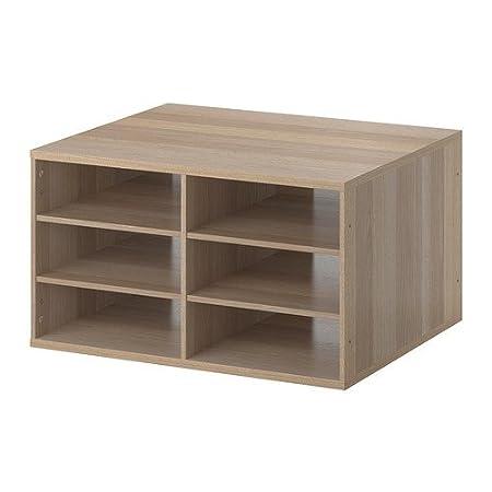 IKEA KOMPLEMENT - estantes seccionado, efecto roble teñido blanco - 75x58 cm