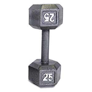 CAP Barbell Solid Hex Dumbbell, Single (25-Pound)