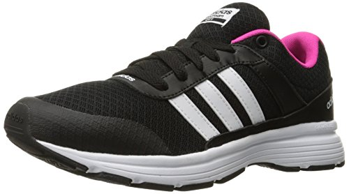 Adidas Performance Women's Cloudfoam VS City W Running Shoe, Black/White/Shock Pink S, 8 M US