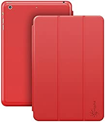 iPad Air 2 case, EnergyPal PU Leather Stand Case with Auto Sleep/Wake Function for iPad Air 2 [ Red ]