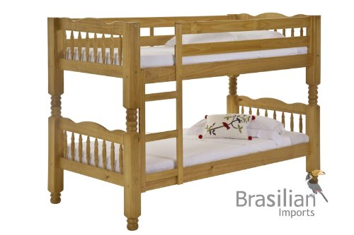 Single Pine Bunk Bed - Childrens Trieste Extra Strong Pine - By Verona Design