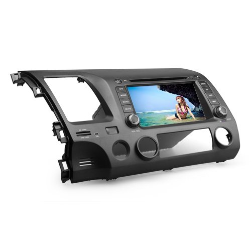 Ouku 7 Inch Tft Digital Touch Screen Car Dvd Player For Honda Civic 2006-2011 (Gps, Bluetooth, Tv)+Kudos Gps Map Card, With 4Gb Standard Sd Card