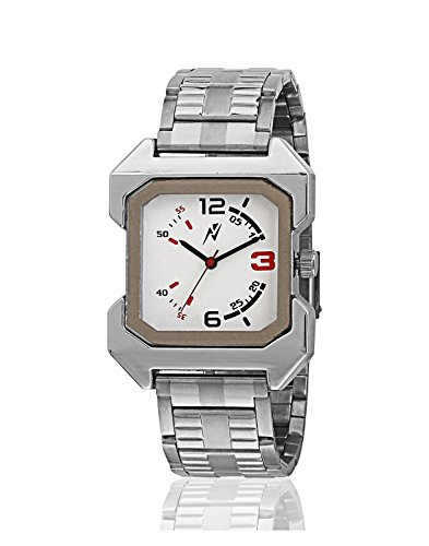 Yepme Men's Analog Watch – Silver/White
