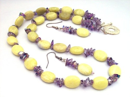Artisan Handmade One of a Kind Agate Beaded Necklace Set