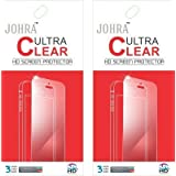 Johra Pack Of 2 Clear HD Screen Scratch Protector For Motorola Moto G4 Plus (4th Generation)