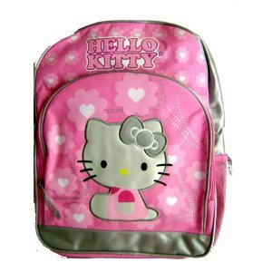 Sanrio Hello Kitty Pink & Silver Large Backpack – Nice backpack for school