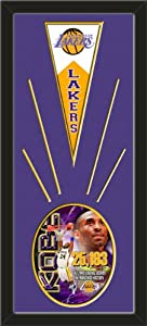 Los Angeles Lakers Wool Felt Mini Pennant & Kobe Bryant Potrait Plus Photo -... by Art and More, Davenport, IA