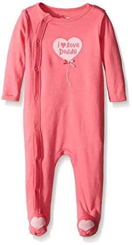 The Children's Place Baby I Love Daddy Sleep N' Play, Fleur Pink, 6-9 Months