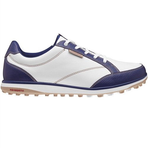 Ashworth Womens Cardiff Adc Golf Shoes, New Navy/Khaki/Bordeaux, 6.5 Medium
