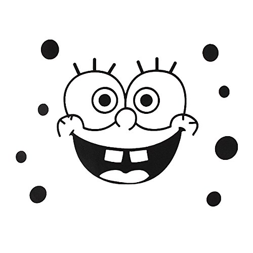 Cartoon SpongeBob Wall Bathroom Toilet Sticker Home Decal