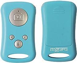 mguru: Orginal High Quality Bluetooth Shutter (Blue) for Selfie