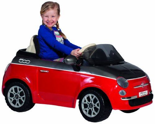Peg Perego Fiat 500 12-Volt Ride On, Red
