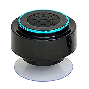 KINGLAKE 2014 Latest Brand New IP67 Waterproof Mini Bluetooth Shower Speaker Enhanced Bass Audio Crystal Clear Sound with 8 Hours Playtime Built-in Microphone Hands-free Phone Calling and Answering with Suction Cups for Smart phones iPad Tablets MP3 Player Notebooks (Blue)