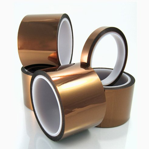 Cs Hyde Kapton Double Sided Silicone Adhesive Tape, Amber 1/2 Inch X 36 Yards