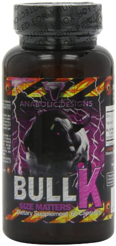 Anabolic Designs BullK Testosterone Boost and Mass Gain Capsules - Tub of 60