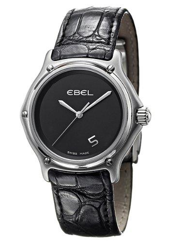 Ebel - 9187241-55535136 - Montre Homme - Quartz - Analogique - Bracelet Cuir Noir