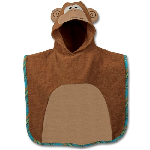 Stephen Joseph Hooded Bath Poncho, Monkey (Discontinued by Manufacturer)