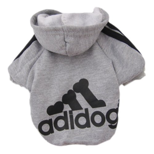 Zehui Pet Dog Cat Sweater Puppy T Shirt Warm Hoodies Coat Clothes Apparel Grey XXL