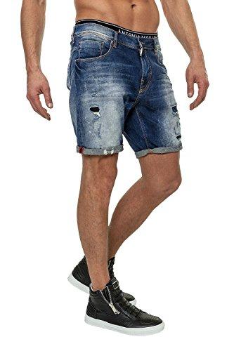 Antony Morato Jeans da uomo Pantaloni Denim Shorts Blu (7010) W34