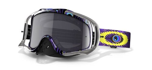 Oakley Troy Lee Signature Crowbar MX goggles grey/purple 2014 cycling goggle