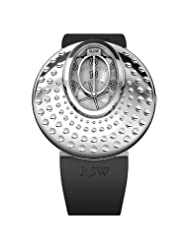 RSW Women's 7130.BS.R1.2.00 Moonflower Automatic Stainless Steel Dotted Black Rubber Watch