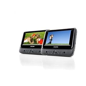nextbase nb48ac lecteur dvd portable 17 8 cm 7 avec 2 lecteurs fixations voiture et. Black Bedroom Furniture Sets. Home Design Ideas