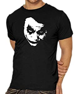 Heath Ledger - JOKER T-Shirt S-XXXL Assorted Colours black Size:S