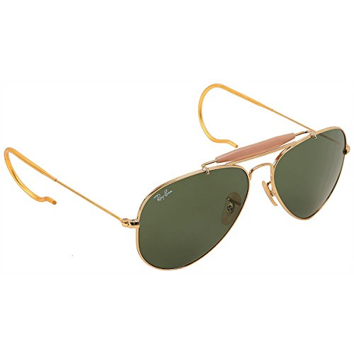 Gold Ray-ban Outdoorsman Sunglasses RB 3030 L0216 58mm +SD Glasses +Cleaning Kit (Rb 3030 compare prices)