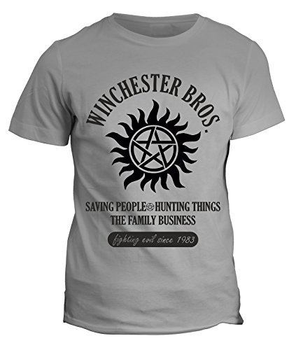 Tshirt winchester bros - supernatural - fighting evil since 1983 - in cotone by Fashwork