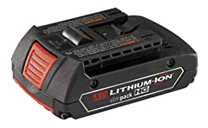 Bosch BAT610G 18-Volt Lithium-Ion HC (High Capacity) 1.5Ah Lithium-Ion Slim Pack Battery with Fuel Gauge