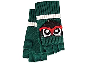 kate spade york Womens Who Me Woodland Pop Top Mittens Lily Pad Green